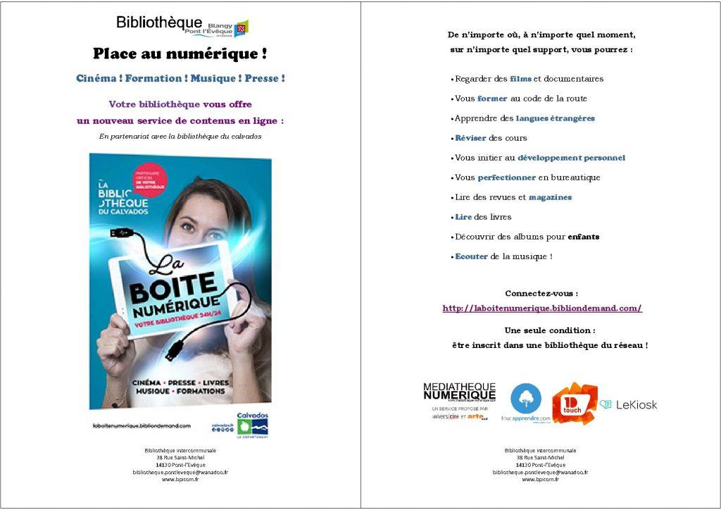 Affiche lancement boite numérique