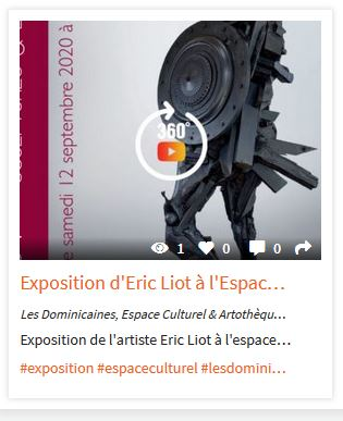 Exposition 360° Eric LIOT